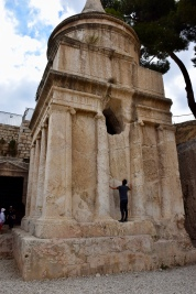 This tomb monument has absolutely nothing to do with Absalom. Is it the tomb of Herod Agrippa I?