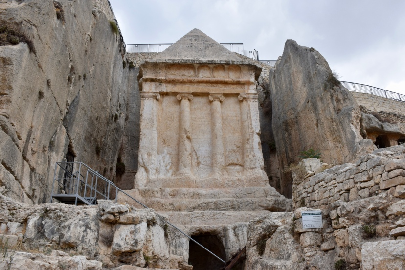 This tomb monument from the 1st century was carved out of the limestone in the Kidron Valley across from the City of David.