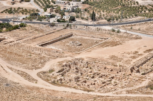 This is a view of Herod's swimming pool from the top of Herodian.
