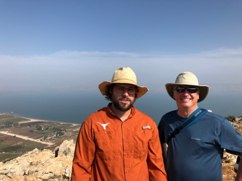 The view of the Sea of Galilee from Mt. Arbel